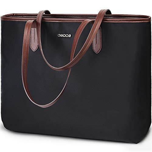 Handtassen Tot 15.6 '' Laptop voor Vrouwen, OSOCE Office Tassen Aktetas, Laptop Tote Case voor Vrouwen, Up to 15.6 inch, Donkergrijs