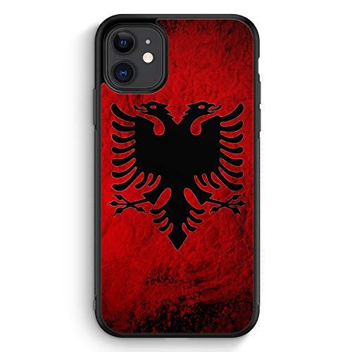 Albanien Splash Flagge - Silikon Hülle für iPhone 11 - Motiv Design Albanisch - Cover Handyhülle Schutzhülle Case Schale
