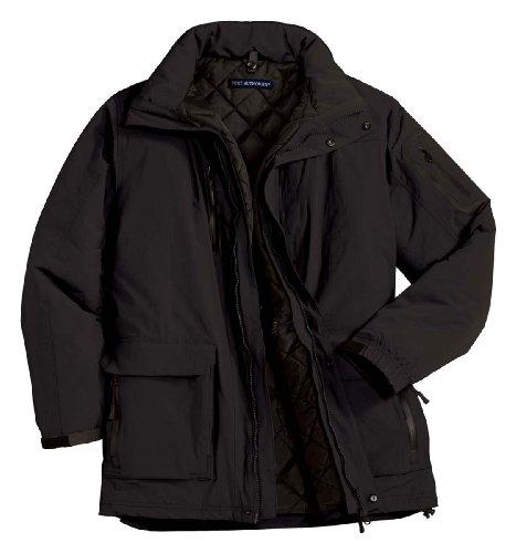Port Authority Men's Big Heavyweight Parka Outerwear, Black, XXXX-Large Big