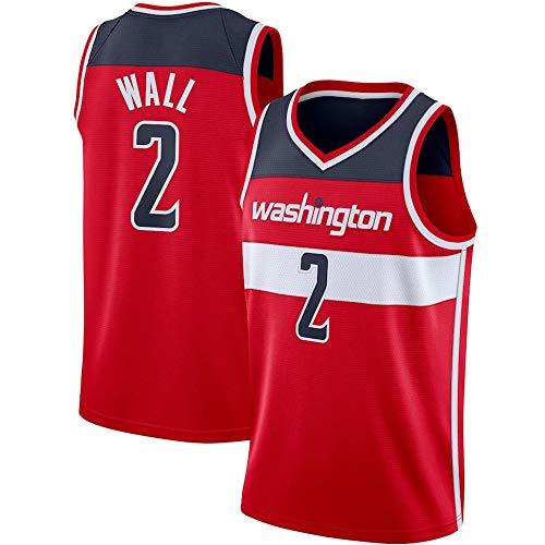 Camiseta De Baloncesto De La NBA para Hombre,Washington Wizards NBA 2# John Wall Camisetas - Camiseta Unisex Cómoda De Baloncesto con Chaleco Deportivo,B,L(175~180CM/75~85KG)