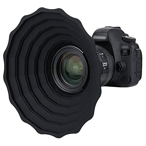 JJC Lente de silicona capota anti reflexión para Canon Nikon DSLR lente de cámara dia. 53mm ~ 72mm, vidrio ventana fotografía accesorio, plegable lente capó lente protector - S