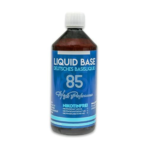 Erste Sahne Basen mit einzigartiger 85% VG / 10% PG / 5% H20 Mischung   Basis zum Mischen von E Liquid   Nikotinfrei & 100% Made in Germany   Höchste Qualität und neutraler Geschmack! (1L)
