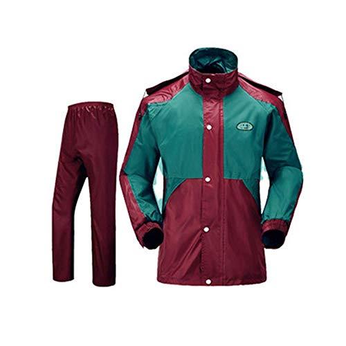 Guyuan Pantalones Impermeables para la Lluvia Traje Impermeable Capa de Doble Cara...