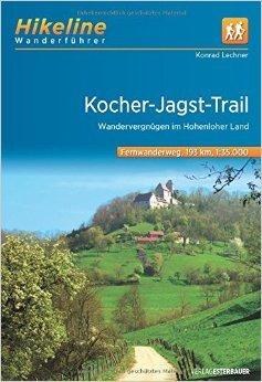 Hikeline Fernwanderweg Kocher-Jagst-Trail ca.200 km: Auf einem Dreieck durch das Hohenloher Land und den SchwŠbischen Wald, 1:35.000, wasserfest und rei§fest, GPS zum Download (Englisch) ( 1. MŠrz 2012 )