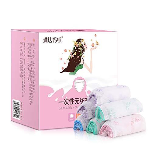 Yyh Dames ondergoed voor eenmalig gebruik, non-woven ondergoed, papier, broekjes, handige brieven voor op reis en hotel spa XX-Large A