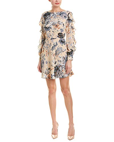 Ali & Jay Women's Merci Ruffle Long Sleeve Dress, Champagne Floral, X-Small