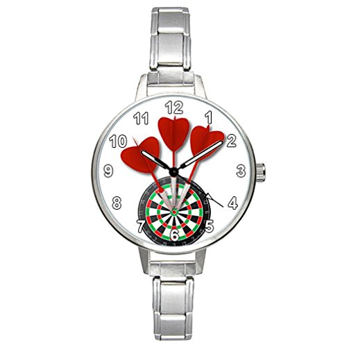 Timest - Love Darts Damenuhr Italian Charms Rund Analog Quarz CBM004