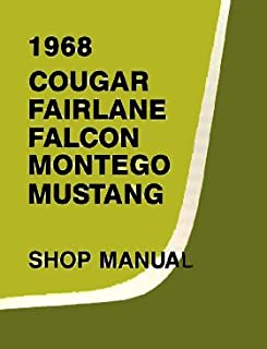 1968 Ford Shop Service Repair Manual (with Decal) - Cougar Falcon Fairlane Montego Mustang