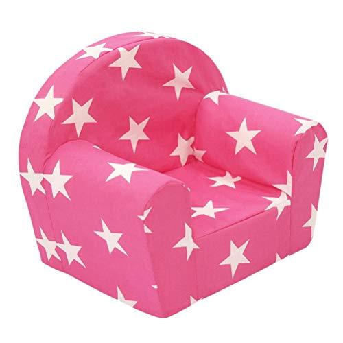 Dynamic24 Kindersessel Sterne pink Kinderzimmer Möbel Sessel Kinder Sitzgelegenheit