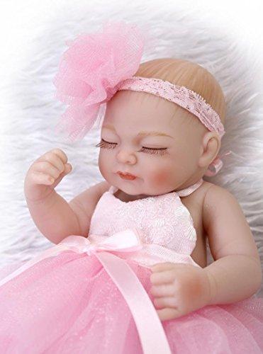 FACAIA Rebirth Doll, Juguetes para niños Reborn Tiny 10 Pulgadas 26cm Cuerpo de Silicona de Vinilo Completo Real Touch Baby Realistic Reborn Dolls Realistic Newborn Baby Doll Sleeping Girl Navidad