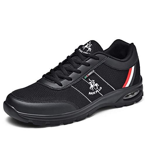 IDE Play Espadrilles Blanches Hommes Chaussures de Sport Outdoor Chaussures de Sport Chaussures Respirantes Sport résistant à l'usure des Chaussures Hommes légers Tourisme Courir,Noir,6