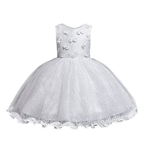 HUAANIUE Nios Princesa Vestido Brillante Fiesta Beb Nia Fiesta de Bodas Tamao de Dama de Honor Disfraz Ceremonia Nia 0-5 Aos