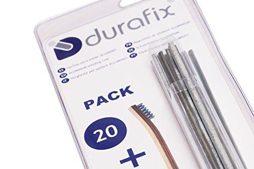 DURAFIX - 20 Verghette per saldare alluminio + 1 spazzolino inox