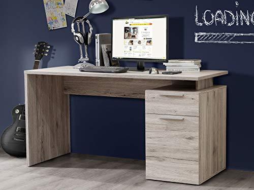 möbelando Schreibtisch Bürotisch Computertisch Arbeitstisch Tisch Büromöbel Balu III Sandeiche
