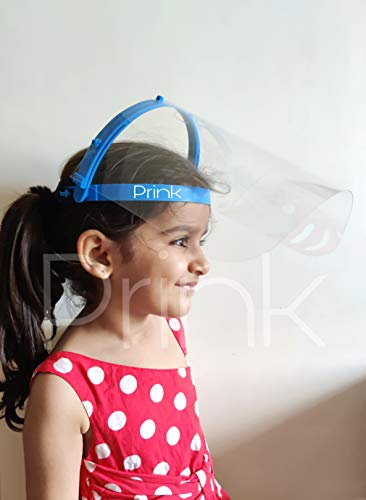 Prink Full Face Protector/Shield with Movable Band and Adjustable Elastic (Pack of 5)
