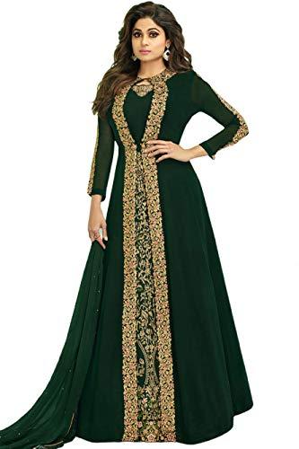 Skyview Fashion Musulmana de la boda de seda largo Anarkali Salwar Kameez...