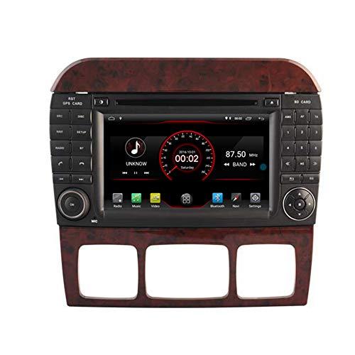 Autosion Lecteur DVD de voiture Android 10 GPS stéréo radio multimédia Wifi pour Mercedes Benz Classe S W220 1998–2006 commande au volant