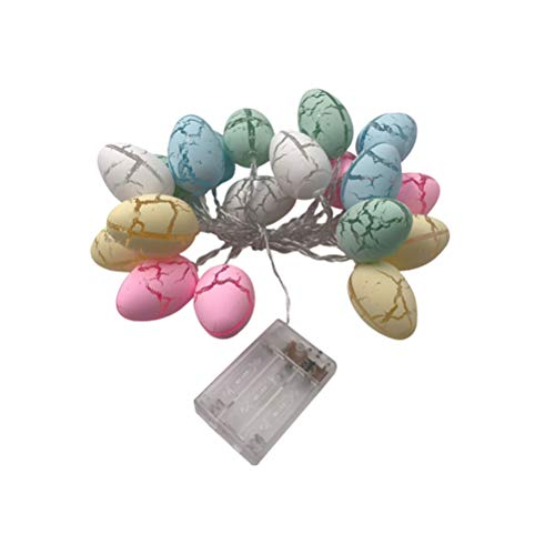 VALICLUD Easter Eggs Light String Feines Rissmuster String Light Festival Party Dekoratives Nachtlicht ohne Batterie (3,2 Meter 20 LEDs)
