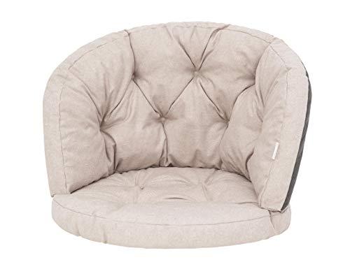 Amanda Coussin fauteuil rotin, coussin fauteuil jardin, coussin de chaise, coussin chaise cocon, coussin banc de jardin – Beige