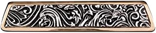 Vicenza Designs P1251 Liscio Leaves Finger Pull, Two Tone