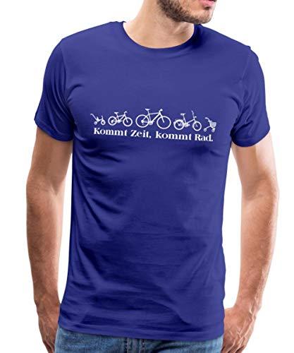 Dreirad Fahrrad Rollator Kommt Zeit Kommt Rad Männer Premium T-Shirt, 4XL, Königsblau