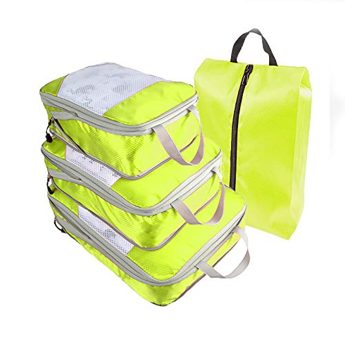 Luggage Organizers with Shoe Bag Best Packing Cubes Set Travel Luggage Organizers Suitcase Travel Accessories