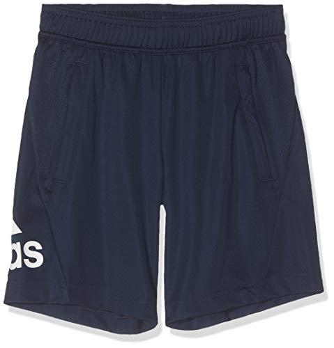 adidas Pantalones Cortos, Niños, Azul Marino / Blanco, 164
