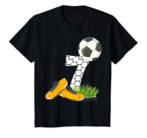 Kinder Geburtstagsshirt 7 Jahre Fussball Tor 7. Geburtstag Kids T-Shirt