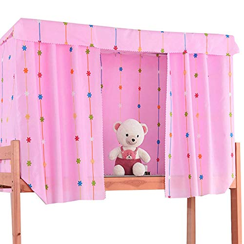 KENNEDY US Students Dormitory Bunk Bed Curtains 1Top+2 Bed Curtain Shading Nets Dustproof Blackout Cloth Bed Canopy Mosquito