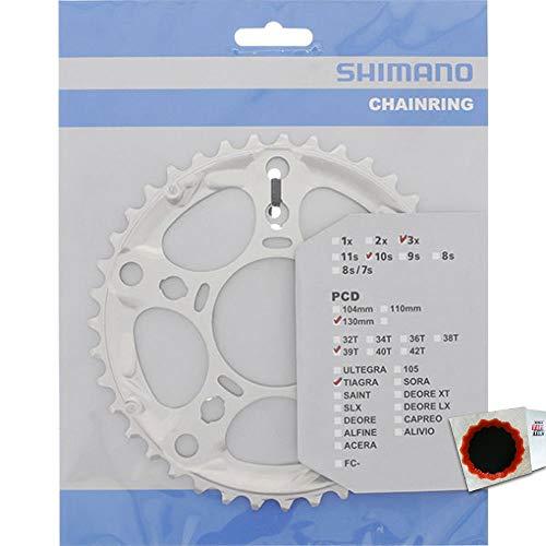 SHIMANO Kettenblätter TIAGRA FC-4603 39 Zähne 130mm Aluminium Silber Fahrrad