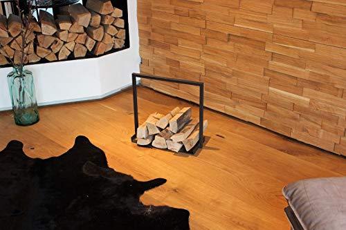 Wohnmanufactur Gr/ünberger WMG Photophore en Verre avec Fond Transparent Tailles Bois Groesse 3
