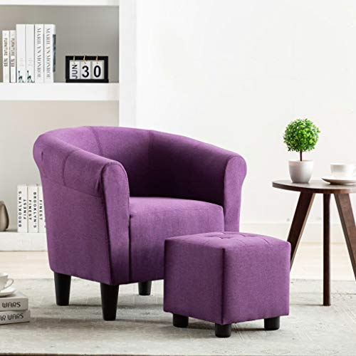 Tidyard Sessel Chesterfield Clubsessel Cocktailsessel Loungesessel Polstersessel Relaxsessel Lounge Couch Sofa Lila 70x56x66cm Stoff