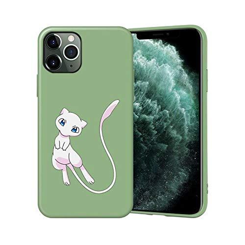Mew-two - Carcasa para iPhone 12, 11, 7, 8 Pro Mini, XS, Max Xr X Plus Se 2020, color verde