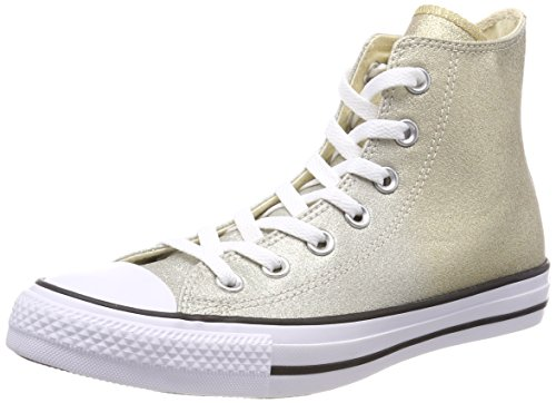 Converse Unisex-Kinder CTAS HI Fitnessschuhe, Gold (Light Gold/Aged Gold/White 710), 36 EU
