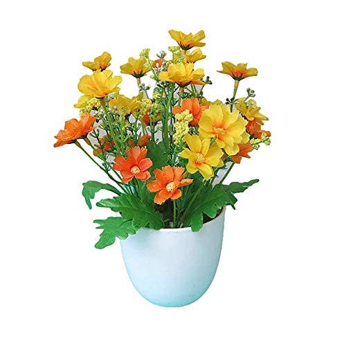 Marjon - Bonsái de Flores para decoración de jardín, Fiestas, escritorios, Manualidades, Color Naranja