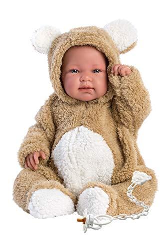 Llorens 84425 weinende Babypuppe Bebo, 43 cm, beige