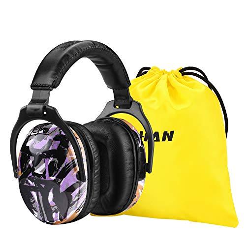 [Verbesserte] ZOHAN 030 Kinder Gehörschutz, Kind Lärmschutz Kopfhörer Verstellbare Faltbare Ohrenschützer für Schule Konzert Festival mit SNR 27dB Hörschutz, (Lila Graffiti)