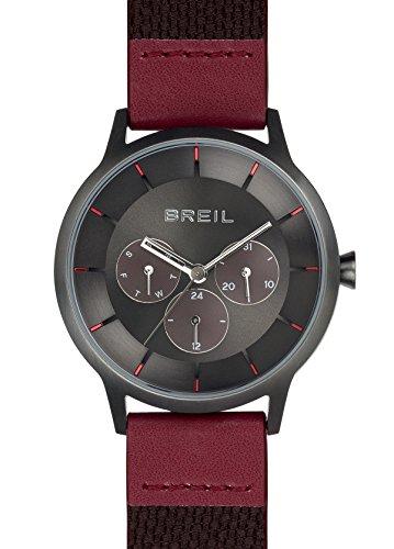 Reloj BREIL Hombre TWENTY20 Esfera marrón e Correa in Piel de Becerro Rojo, Movimiento MULTIFUNCIÓN Cuarzo