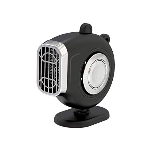 APROTII 150W Car Heater Defrosting Electric Heater Fan Black 360° Rotating Rapid Heating Car Warmer Heater
