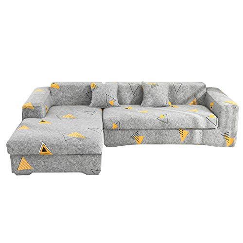 QWEASDZX Elastic Dust-Proof And Anti-Wrinkle Sofa Cover. Fashionable And Simple Furniture Protector, Easy To Install And Washable 2 Seater(145-185cm)