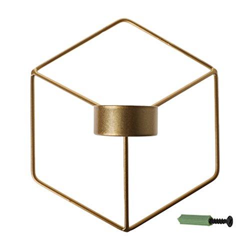 Koehope Kandelaar Scandinavische stijl 3D geometrische kandelaar metalen wand kandelaar wandlamp Home Decor