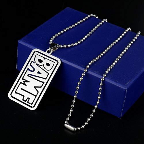 Halskette Schmuck Edelstahl Anhänger Halsketten Buchstaben Halskette Mann Frauen Punk Zubehör Perlen Kette