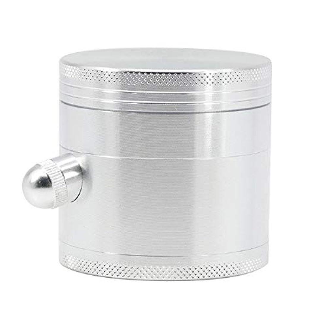 絶望的なストラップデータベースホームキッチン4層の直径63ミリメートルのための金属グラインダー亜鉛合金研削コーヒー豆リムーバブルポータブル (Color : White)