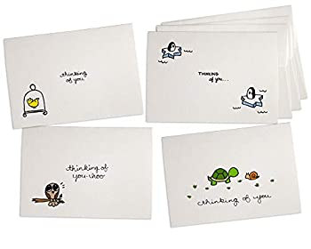 Animals Thinking of You Collection Pack Set - 24 Note Cards with Envelopes