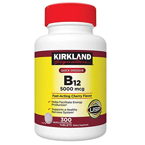 Kirkland Signature B-12 5000 mcg, 300 Tablets (2 Pack)