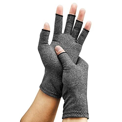 1 par Artritis de compresión Guantes Soporte de muñeca algodón articulación Dolor de Alivio de Mano espraza Mujer Hombres Dedos Terapia Pulsera (Color : Light Gray, Size : Small)