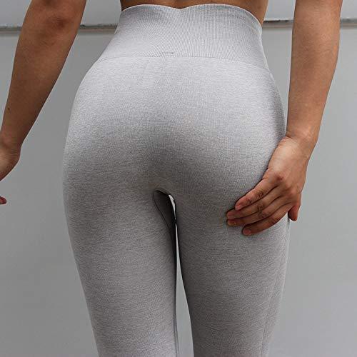 Pantalones De Yoga Para Mujer,Los Pantalones De Cintura Alta Pantalones De Yoga Push Up Polainas Integradas Gimnasio Yoga Desgaste Deportes Tiburón Gris Ejercicio Entrenamiento Femme Ejecutando Calf