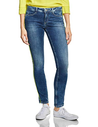 Street One Damen 372053 Jane Slim Jeans, Natural Random Bleached, W34/L30