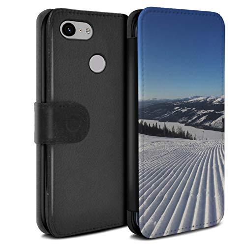 Stuff4 beschermhoes van PU-leer/beschermhoes/Wallet/OTH-PSW/Skiing/snowboard-collectie Google Pixel 3a XL Corduroy Pistes