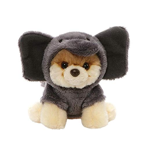 "GUND World's Cutest Dog Itty Bitty Boo #52 Elephant Plush 5"" Stuffed Animal, Gray"